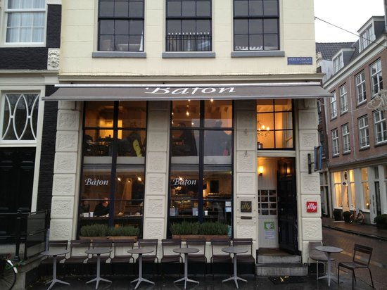 Brasserie Baton:                   Entrance on Herengracht