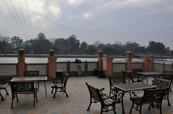 Haveli Hari Ganga:                   The balcony in front of the river facing room