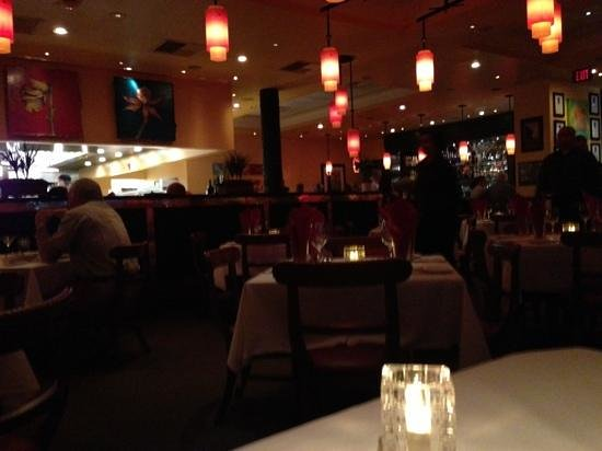 Inside of the restaurant main dining area with open for Roy s country kitchen