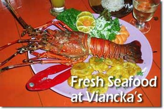 Donde Viancka: fresh seafood and fish depends the catch of the day