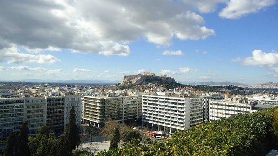 Hotel Grande Bretagne, A Luxury Collection Hotel: View from the restaurant,Acropolis.