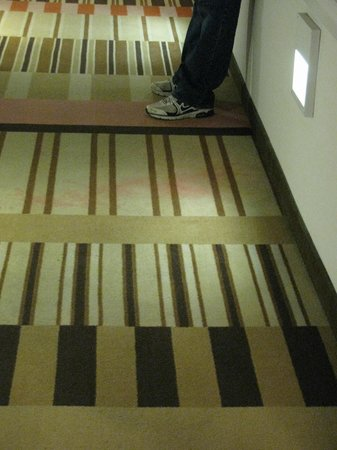 Flamingo Las Vegas Hotel & Casino:                                     dirty carpet in hall on 22nd floor