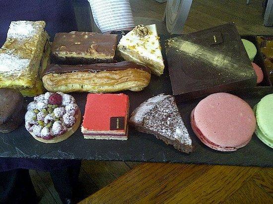 Aubaine Brompton Cross: dessert slate at Aubaine