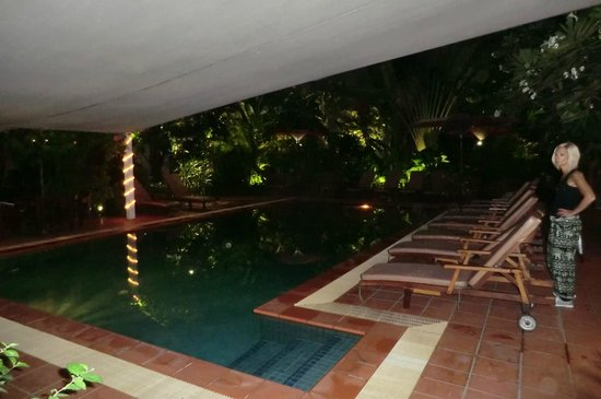 The Villa Paradiso:                   pool at night