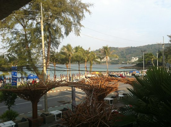 B-Lay Tong Phuket:                   view of the beach from the spa suite