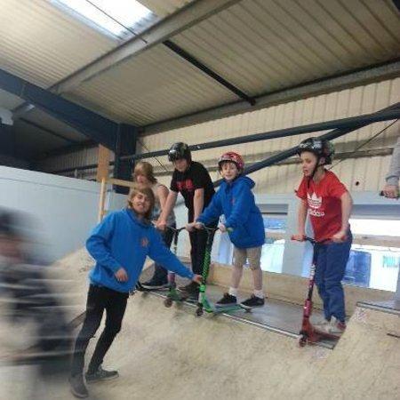 360 Indoor Skate Park:                   kids having a lesson