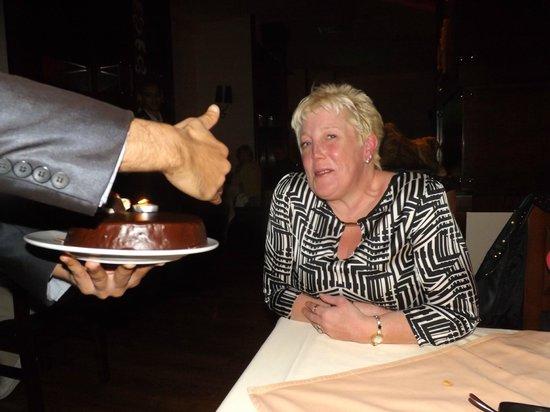 White Elephant Thai Restaurant and Sushi Bar:                   Birthday cake