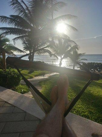Las Villas Akumal:                   Sun rise from room