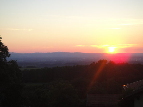 Hirzinger - Hotel Gasthof zur Post:                                     sunset from balcony