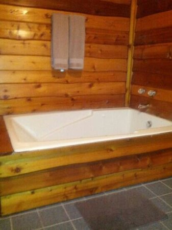Kishauwau Country Cabins:                   Two person whirlpool tub (too bad we didn't have hot water)
