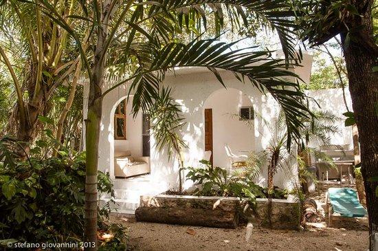 Hotel Tulum:                   inside the hotel