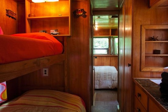 Sou'wester Lodge:                   Why have a hotel room when you can have a vintage 50's trailer?