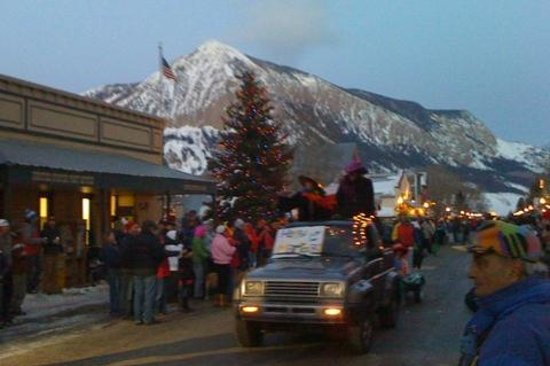 Elk Mountain Lodge:                   Fat Tuesday Parade in Crested Butte