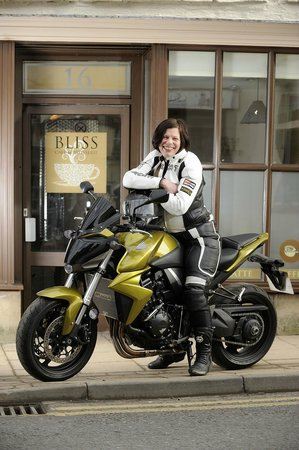 Bliss Cafe: Jacqui and her bike