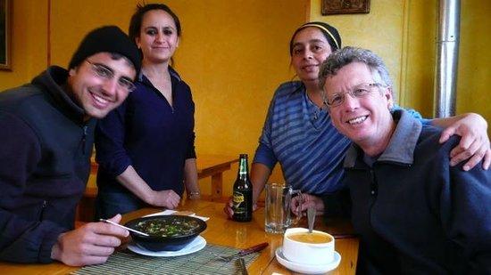 El Toqui:                                     Owner/chef back right
