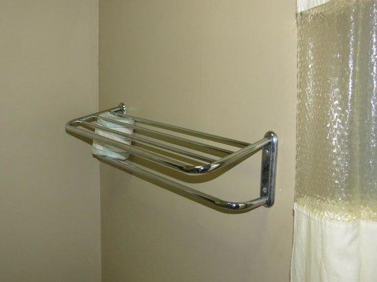 Days Inn Lafayette Near Lafayette Airport:                   Bent towel rack.