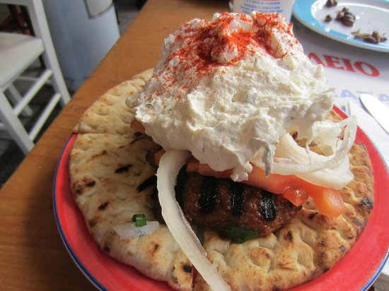 50-50:                   the kebab.  excellent.
