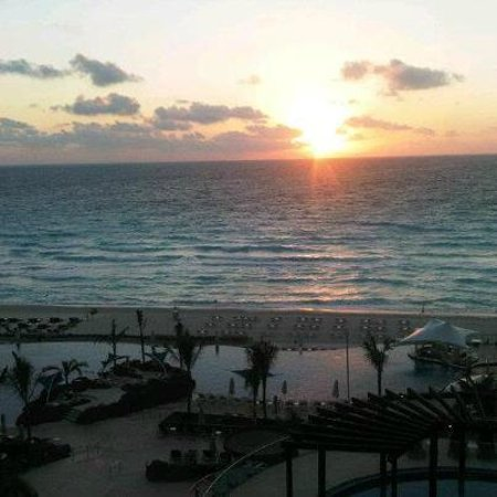Hard Rock Hotel Cancun:                   Sunrise view from my balcony