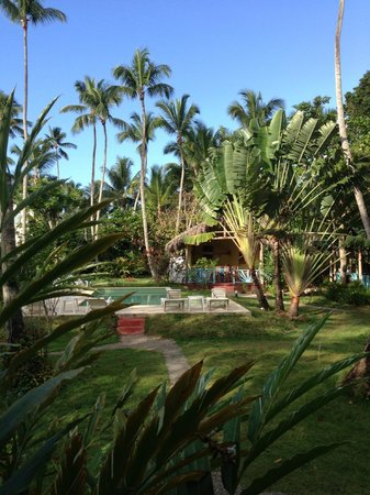 Iguana Hotel :                   View from room to pool and dining