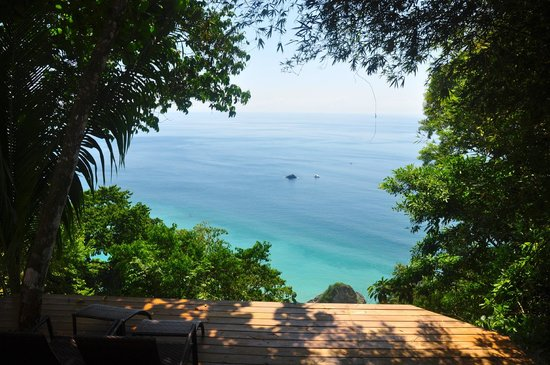 Bosque del Cabo Rainforest Lodge:                   View from our casita