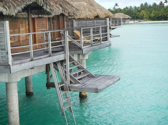 Four Seasons Resort Bora Bora:                   deck and diving platform off bungalow