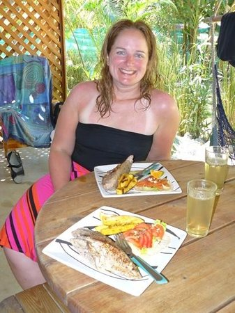 Hotel Raratonga:                   fish we caught and cooked. can't beat that!