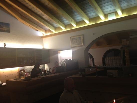Hotel Selva Pizzeria:                   the bar and oven where they make pizza