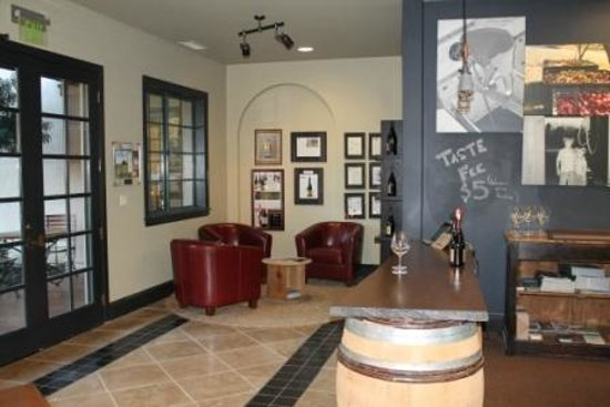 The Madrones: Interior of Drew Family Cellars tasting room