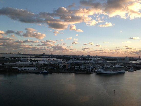 InterContinental Miami:                   View from room 3205