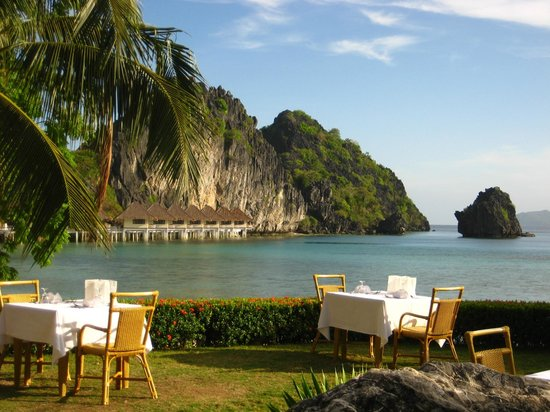 El Nido Resorts Apulit Island:                   View from Restaurant