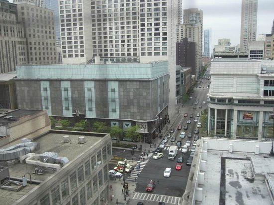 Inn of Chicago:                   View of Michigan Avenue from our 6th or 7th floor corner room