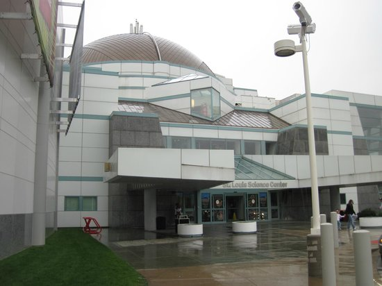 Saint Louis Science Center:                   entrance to the science center