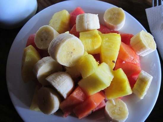 Hotel El Bosque:                   Part of breakfast...Fresh and amazing fruits