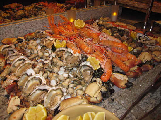 Novotel Convention & Wellness Roissy CDG: Superbe  buffet de fruits de mer