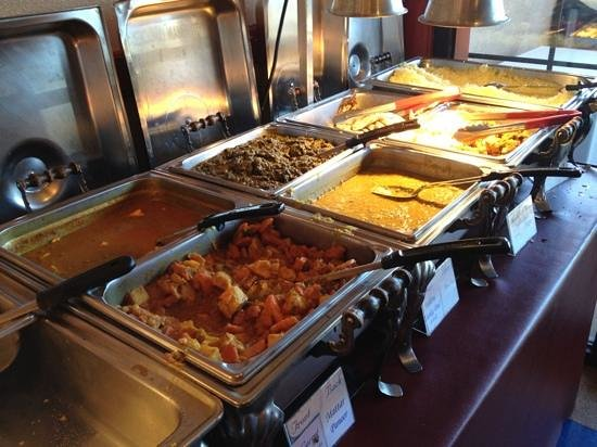 India House:                   section of the lunch buffet