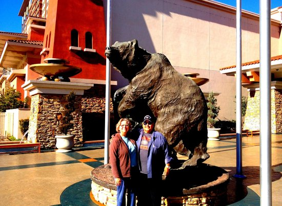 Thunder Valley Casino Resort:                   Bronze statues at Thunder Valley Resort