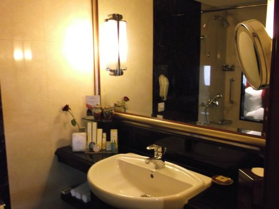 Shangri-La's Eros Hotel: bathroom view