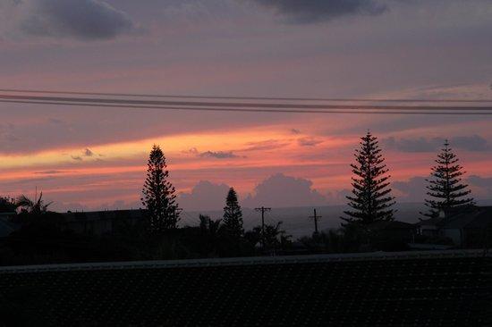 Clubyamba:                   A perfect sunrise from the main balcony.