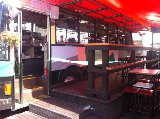 Smash Palace: front of bus bar