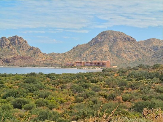 Villa del Palmar Beach Resort & Spa at The Islands of Loreto:                   The resort in the distance