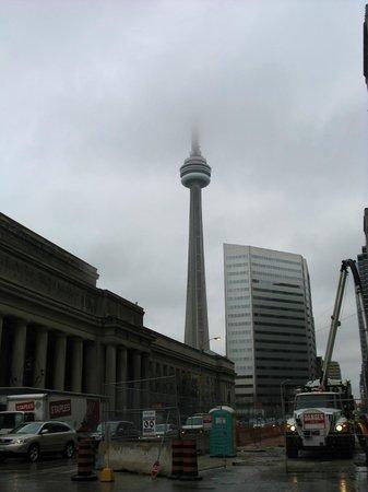 Hilton Toronto: Vu de la CN tower