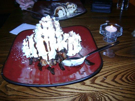 Mambo Jambo:                   Belgian chocolate waffle with icecream and cream
