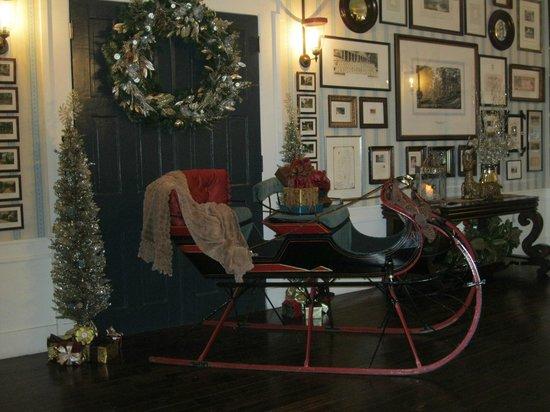 Omni Bedford Springs Resort:                                     Santa's sleigh
