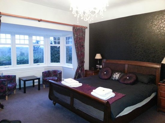 The Grimscote Manor Hotel:                   Brockingham Suite - enormous bed!