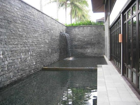 The Nam Hai Hoi An - a GHM hotel:                                     Falls by the Breakfast Restaurant