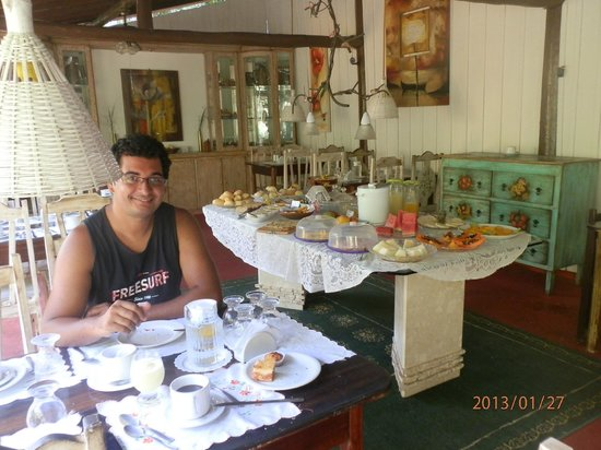 Pousada Porto de Cima:                                     cafe da manha                                  