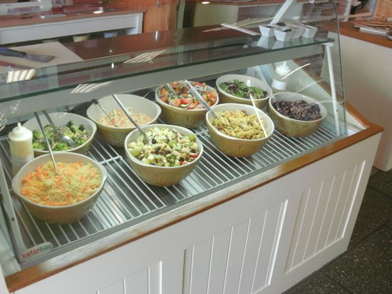 The Bay Leaf Restaurant: The famous salad bar.