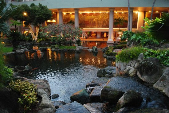 Kaua'i Marriott Resort:                   Koi Pond with Waterfall
