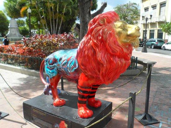 Plaza of Delights (Plaza de las Delicias): Lion