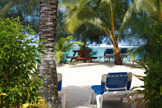 The Rarotongan Beach Resort & Spa:                   View from Deluxe Beachside Suite